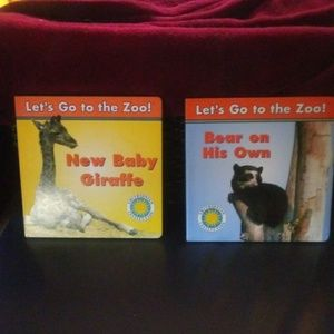 """2 Almost New """"Let's Go To The Zoo"""" books"""